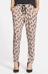 Zebra Print Drawstring Pants Juniors Online Only Tan Print