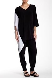 Planet Asymmetrical Tunic Black