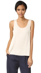 Vince Raw Edge Trimmed Tank Bleached