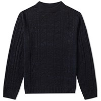 Spellbound Cable Crew Knit Blue