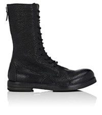 Marsell Men's Leather Lace Up Combat Boots Black