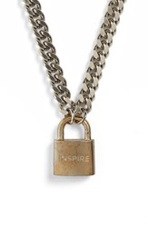 Women's The Giving Keys 'Rebel Inspire' Lock Pendant Necklace