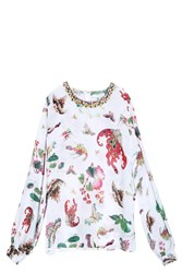 Andrew Gn Butterfly Blouse Multi