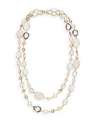 Natasha Long Multi Strand Crystal Necklace