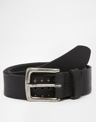 Asos Leather Belt In Black With Vintage Style Studding Black