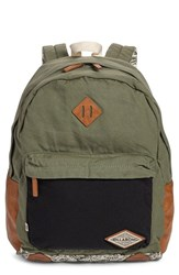 Billabong Junior Women's 'Hidden Trek' Geo Print Canvas Backpack Green Moss