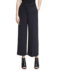 A.L.C. Emily Belted Gaucho Pants Navy