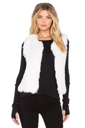 525 America Rabbit Fur Vest White