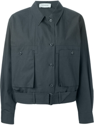 Lemaire Classic Collar Bomber Jacket Green