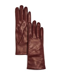 Bloomingdale's Leather Gloves Bordeaux