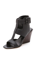Derek Lam 10 Crosby Campbell Wedge Sandals Black