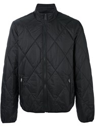 Michael Kors High Neck Zipped Jacket Black