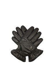 Fendi Bag Bugs Embossed Leather Gloves Black