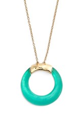 Women's Alexis Bittar 'Lucite' Open Circle Pendant Necklace Leaf Green