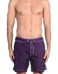 Woolrich Swimwear Swimming Trunks Men Mauve