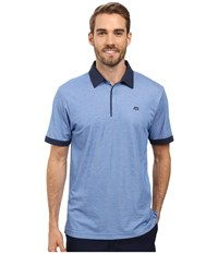 Travis Mathew The Martin Polo Nautical Blue White Men's Clothing