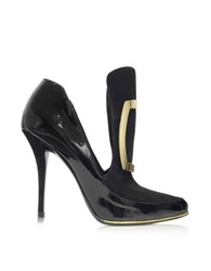 Balmain Desire Black Patent Leather And Suede Pump