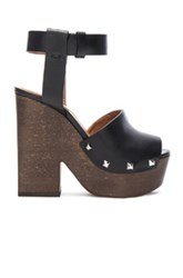 Givenchy Leather Sofia Clog Sandals In Black