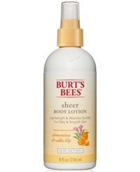 Burt's Bees Clementine And Calla Lilly Sheer Body Lotion