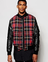 Love Moschino Tartan Bomber Red