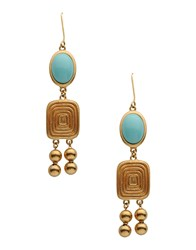 Christian Dior Dior Jewellery Earrings Women Turquoise