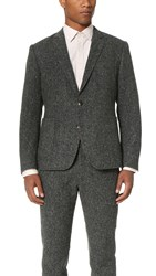 Brooklyn Tailors Donegal Fleck Unstructured Jacket Charcoal