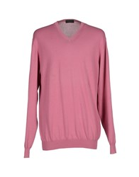 Zanone Knitwear Jumpers Men Pastel Pink