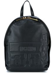 Moschino Satchel Effect Backpack Black