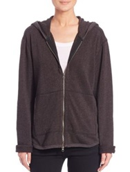 Atm Anthony Thomas Melillo French Terry Zip Hoodie Heather Charcoal