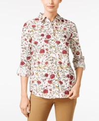 Charter Club Floral Print Shirt Only At Macy's Bright Sage Combo