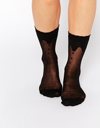 Monki Candy Socks Black