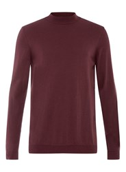 Topman Burgundy Turtle Neck Red