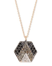 Sheriff Star 14K Rose Gold And Ombre Diamond Hexagon Necklace Kismet By Milka
