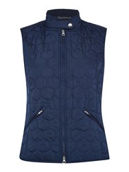 Gant Classic Quilted Gilet Blue