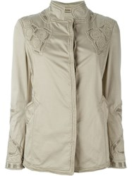 Ermanno Scervino Embroidered Jacket Nude And Neutrals
