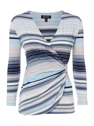 Episode Jersey Stripe Top With Hardware Blue Multi