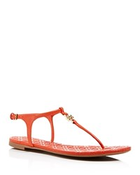 Tory Burch Marion Quilted Thong Sandals Poppy Red