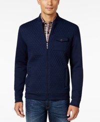 Tasso Elba Men's Big And Tall Classic Fit Quilted Full Zip Jacket Only At Macy's Inky Night