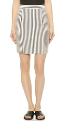 1 By O'2nd Parker Stripe Skirt Off White