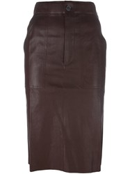 Stouls 'Lino' Skirt Brown