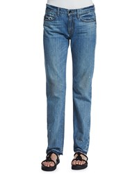 Helmut Lang Relaxed Raw Edge Jeans Light Blue
