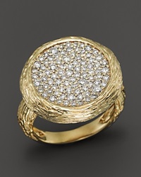 Bloomingdale's Pave Diamond Circle Statement Ring In 14K Yellow Gold .90 Ct. T.W.