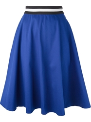 P.A.R.O.S.H. High Waisted Flared Skirt Blue