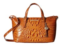 Brahmin Mini Asher Dark Rum Satchel Handbags Tan
