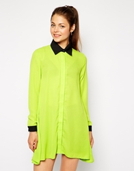 Ax Paris Shirt Dress With Contrast Collar