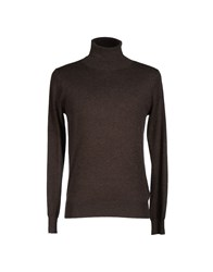 Kangra Cashmere Knitwear Turtlenecks Men Dark Blue