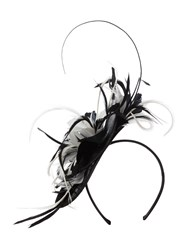 Linea Lexi Tropical Feather Fascinator Monochrome