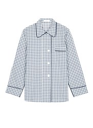 Araks 'Kate' Gingham Check Organic Cotton Pyjama Top Blue