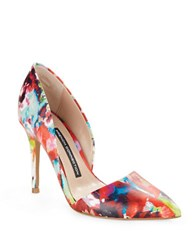 French Connection Elvia Printed D'orsay Pumps Multi Colored
