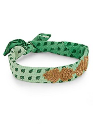 Deepa Gurnani Embroidered And Embellished Headband Green